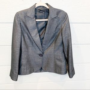 Lafayette 148 Charcoal Linen Blend Suit Jacket